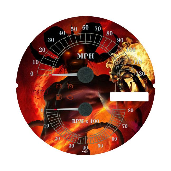 custom speedometer face plates harley davidson forums